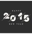 Happy New Year 2015 Abstract Card Text Design vector image