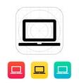 Laptop screen icon vector image