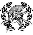 Legionnaires helmet crossed swords vector image