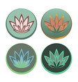 logo water lily set vector image