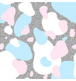 seamless pattern of blue and pink blots vector image