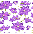 Seamless texture with hand-drawn lilac clematis vector image