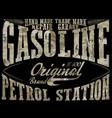 vintage gasolineauthentic gas pump print vintage vector image