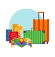 Travel suitcases symbols concept vector image