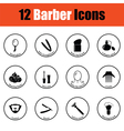 Barber icon set vector image vector image