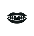 Healthy teeth mouth smile simple icon vector image
