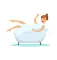 Woman Taking Bubble Bath Part Of People In The vector image