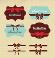 Collection of vintage labels ribbons and bows vector image