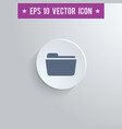 file folder symbol icon on gray shaded background vector image