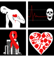 Heart attack prevention vector image