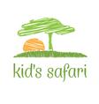 concept safari scene vector image