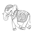 Elephant Indian style Decorative vector image