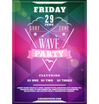 Beach Party Flyer or Poster Summer Night Party vector image
