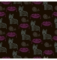Abstract seamless pattern with cats vector image