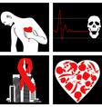 Heart attack prevention vector image
