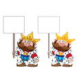 king with blank sign vector image