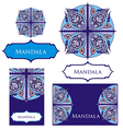 Mandalas collection vector image