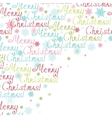 merry christmas text frame corner pattern vector image
