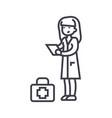 nurse line icon sign on vector image