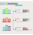 Real Estate infographic template and bar charts vector image