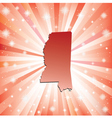 Red Mississippi vector image