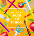 Back to school greeting vector image