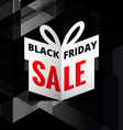 origami giftbox of black friday sale vector image