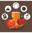 breakfast nutrition fruit vegetable juice cycle vector image