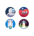 Pixel perfect space icons set vector image