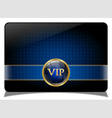Blue vip card vector image