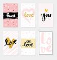 set card love lettering for poster vector image