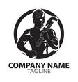 Oil Rig Worker Logo vector image
