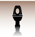 Black Toilet Icon vector image