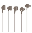 Earphones Silhouettes Icons vector image