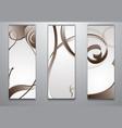 set of models of business cards vector image