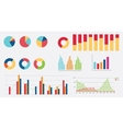 flat graph icon chart collection vector image