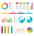 infographic workflow diagrams timeline steps chart vector image