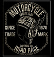 motorcycle themed handmade drawing helmet vector image