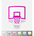 realistic design element basketball hoop vector image