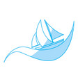 sailboat ship isolated vector image