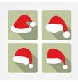 Santa hat flat icons vector image