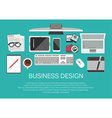 Technology and business icons vector image