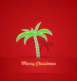 Tropical Christmas Card vector image