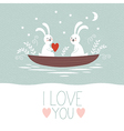 Valentines day or wedding card vector image