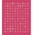 Set Flat Line Icons SEO and Web Design vector image vector image