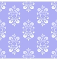 blue damask pattern vector image vector image