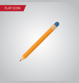 isolated pencil flat icon drawing tool vector image