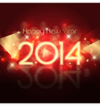 Decorative Happy New Year background with starry vector image