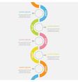 Timeline vertical Infographic snail shape ribbon vector image