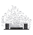 digital sound vector image